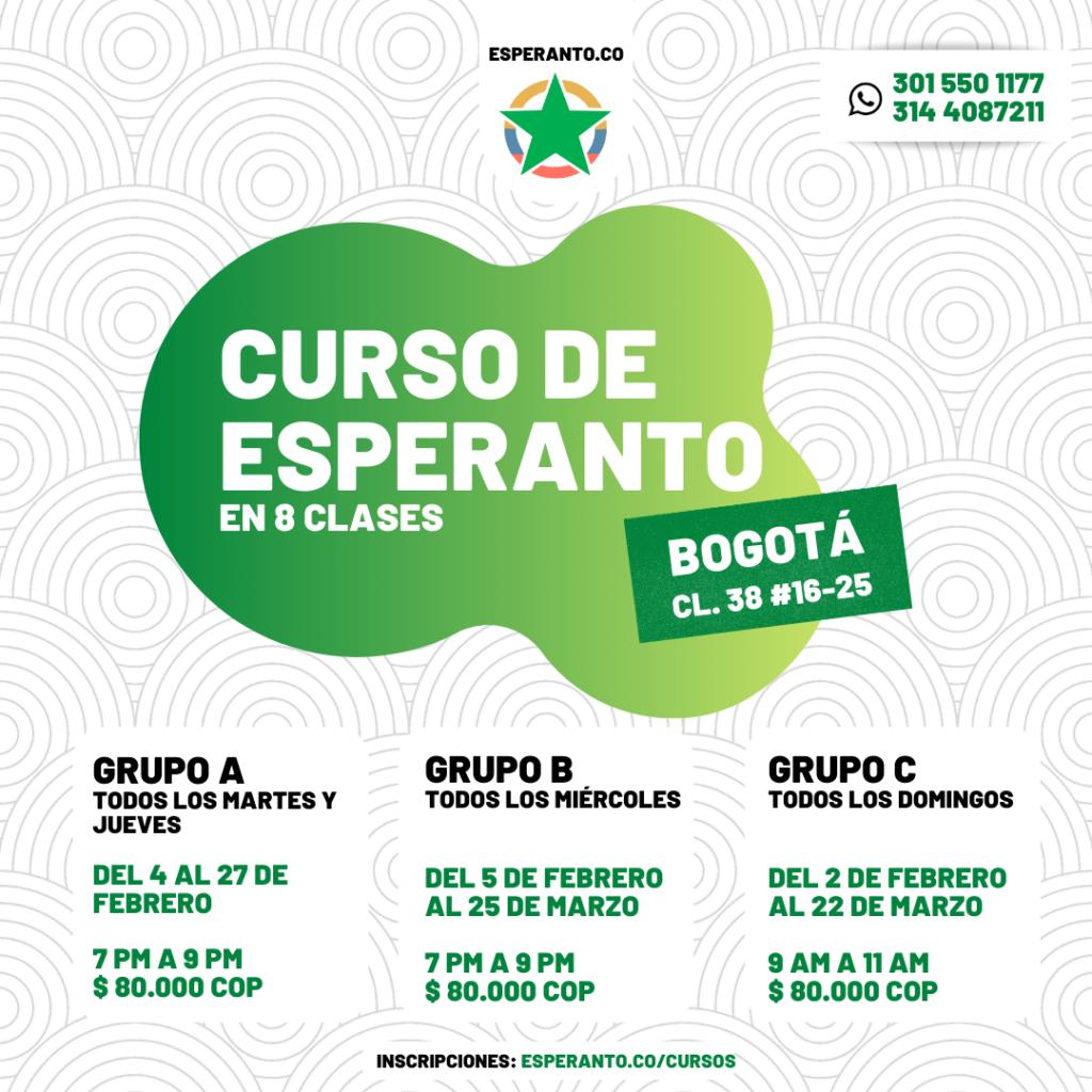 Cursos de Esperanto en Bogotá 1